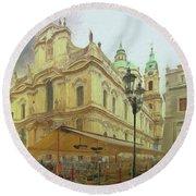2nd Work Of St. Nicholas Church - Old Town Prague Round Beach Towel
