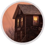 Round Beach Towel featuring the photograph Abandoned House by Jill Battaglia