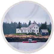 Round Beach Towel featuring the photograph Acadia National Park  by Trace Kittrell