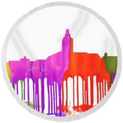 Annapolis Maryland Skyline      Round Beach Towel