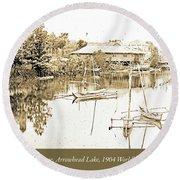 Arrow Head Lake, Philippine Village, 1904 Worlds Fair, Vintage P Round Beach Towel
