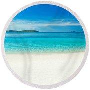 Beach Panorama Round Beach Towel