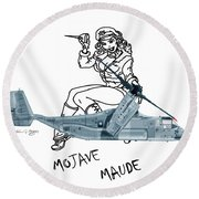 Round Beach Towel featuring the digital art Bell Boeing Cv-22b Osprey Mojave Maude by Arthur Eggers