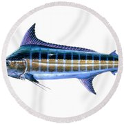Blue Marlin Round Beach Towel