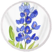 Bluebonnet Round Beach Towel