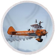 Breitling Wing Walker Round Beach Towel