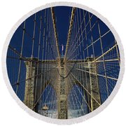 Brooklyn Bridge Round Beach Towel