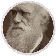 Charles Darwin Round Beach Towel