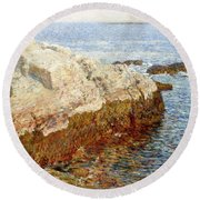 Cliff Rock - Appledore Round Beach Towel