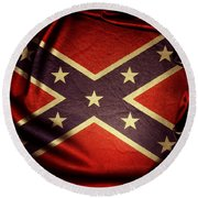 Confederate Flag 6 Round Beach Towel