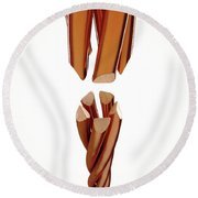 Copper Wire Strands Disconnected Round Beach Towel