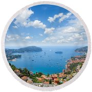 cote dAzur, France Round Beach Towel