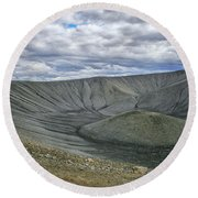 Crater Round Beach Towel by Patricia Hofmeester