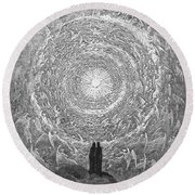 Round Beach Towel featuring the photograph Dante Paradise by Gustave Dore