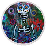 Day Of The Dead Bride Round Beach Towel