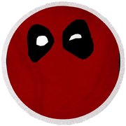 Deadpool Round Beach Towel by Kyle West