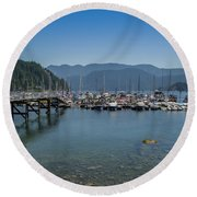 Round Beach Towel featuring the photograph Deep Cove by Ross G Strachan