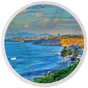 Del Mar Round Beach Towel