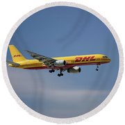 Dhl Boeing 757-236 Pcf Round Beach Towel