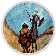 Don Quixote  Round Beach Towel