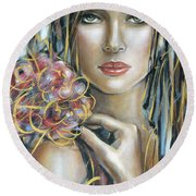 Drama Queen 301109 Round Beach Towel by Selena Boron