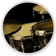 Drums Collection Round Beach Towel