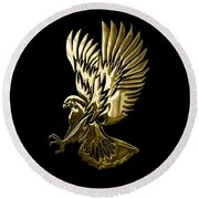 Eagle Collection Round Beach Towel