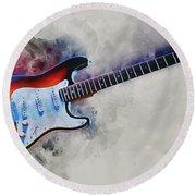 Electric Guitar Round Beach Towel