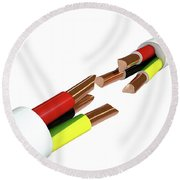 Electrical Cable Cut Round Beach Towel