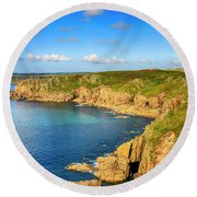 End Of The World - Cornwall Round Beach Towel by Chris Smith