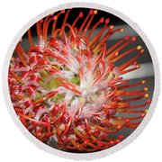 Exotic Flower Round Beach Towel by Elvira Ladocki