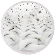 Fabric With Particles Round Beach Towel