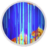 3 Fish Round Beach Towel by James Bethanis