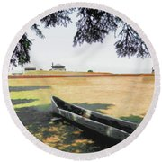 Fort Niagara Round Beach Towel