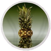 Round Beach Towel featuring the photograph Fresh Ripe Pineapple Fruits by David French