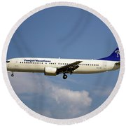 Funjet Vacations Boeing 737-400 Round Beach Towel