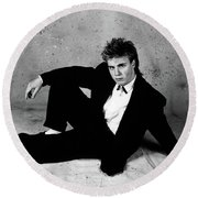 Gary Barlow - 30th Annversary Photographs Round Beach Towel
