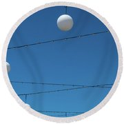 3 Globes Round Beach Towel