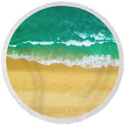 Golden Coast Round Beach Towel