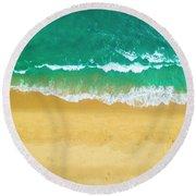 Golden Coast Round Beach Towel