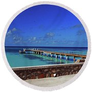 Round Beach Towel featuring the photograph Grand Turk by Gary Wonning