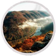 Grandview New River Gorge Round Beach Towel