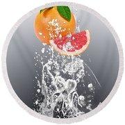 Grapefruit Splash Round Beach Towel