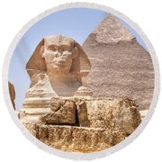 Great Sphinx Of Giza - Egypt Round Beach Towel