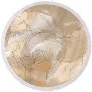 Round Beach Towel featuring the digital art 3 Horses by Mary Armstrong