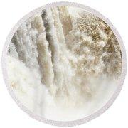 Round Beach Towel featuring the photograph Iguazu Falls by Silvia Bruno