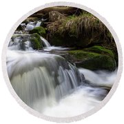Round Beach Towel featuring the photograph Ilse, Harz by Andreas Levi