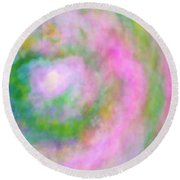 Round Beach Towel featuring the photograph Impression Series - Floral Galaxies by Ranjay Mitra