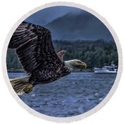 In Flight. Round Beach Towel