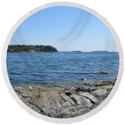In Stensund Round Beach Towel